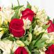 Tridente (1.0), Papel empavonado negro (2.0), CINTASATIN BEIGE (2.0), Tridente (1.0), Rosa roja importada de tallo largo (12.0), Astromelias (20.0), Ruscus (6.0), Astromelias (20.0), Ruscus (6.0), Papel empavonado negro (2.0), CINTASATIN BEIGE (2.0), Rosa roja importada de tallo largo (12.0)