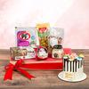 Pack Canasta De Picoteo Tentempie Con Mini Torta  Feliz Día Mamá