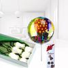 Pack De Bella Caja De Rosas Con Finos Chocolates Y Globo Feliz Cumpleaños.
