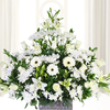 Arreglo Floral Grande Con Flores Blancas