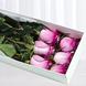 Caja Con 6 Rosas Moradas