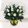 Florero Con 18 Rosas Blancas