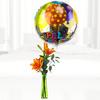 Orange Lili Con Globo Feliz Cumpleaños