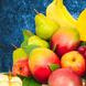 Mangos (u) (4.0), Manzanas  (u) (4.0), Piña (u) (1.0), Uvas  Kg (1.0), Peras (u) (4.0), Platanos  (u) (4.0), Papel celofán (2.0), Adornado con cinta satín (2.0), Ruscus (1.0), Papel arroz (3.0)