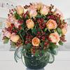 Florero Con 18 Rosas Pastel