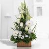 Arreglo Floral Mediano Con Variedad De Flores Blancas.