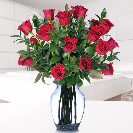 18 Rosas Rojas Importadas